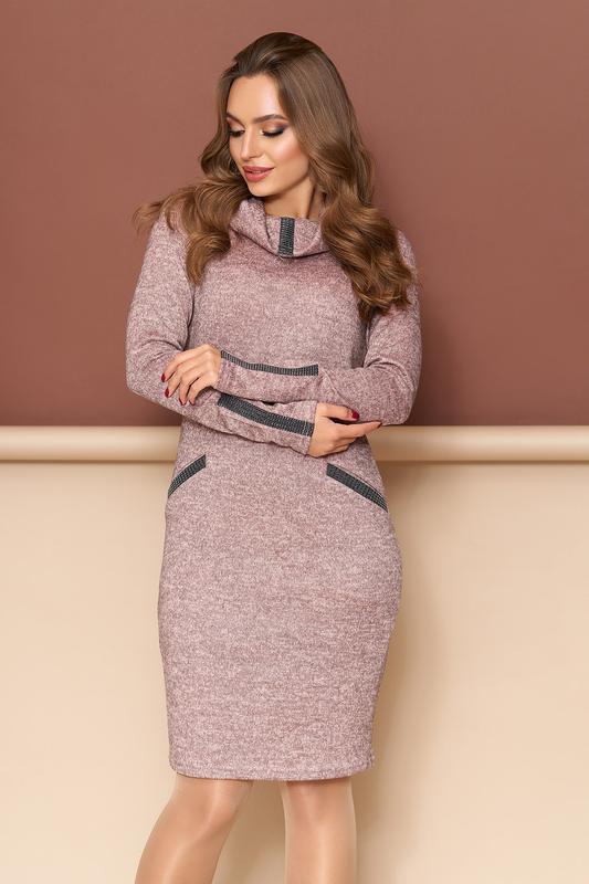 0afed01ea1fc5df Теплое трикотажное платье. 6 цветов. 44-50., цена - 420 грн ...
