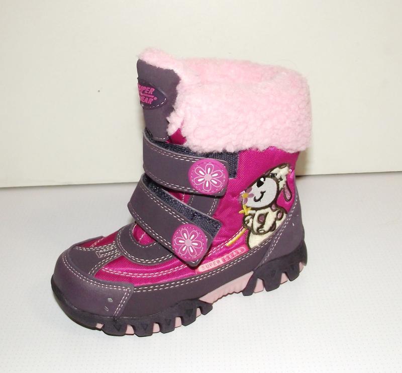 Термоботинки дутики зимние для девочек super gear фиолет венгрия 28-351 ... 144215532bd5b