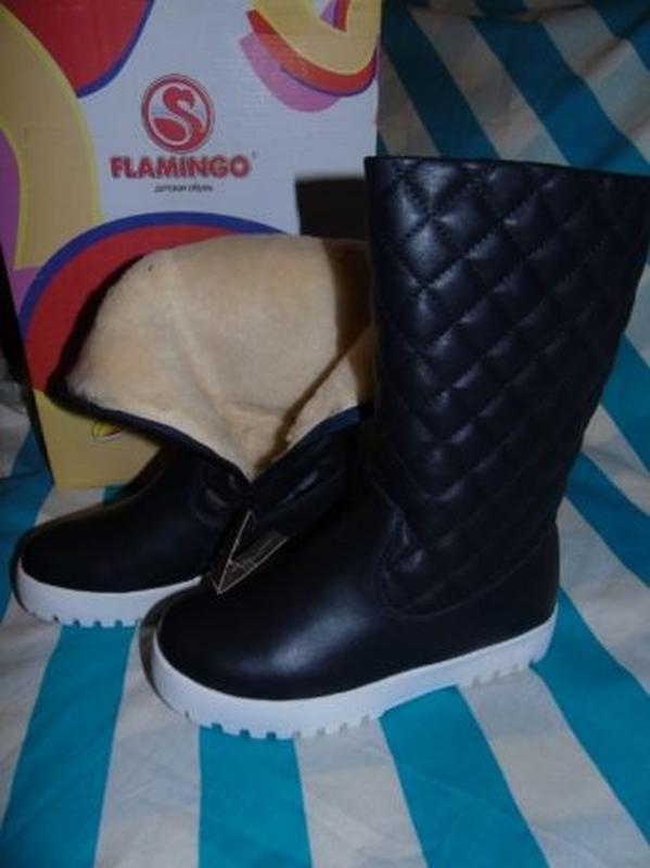 Кожаные сапоги ботинки фламинго 31-38р. на овчине Flamingo 3515a7710c833