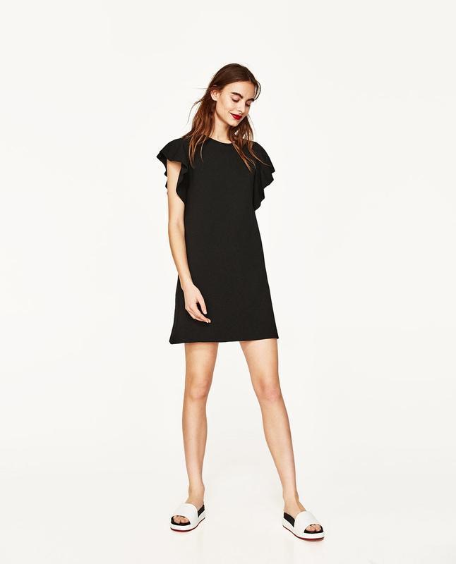608741891c85c22 Платье из плотного трикотажа с крылышками размер 10 ZARA, цена - 310 ...