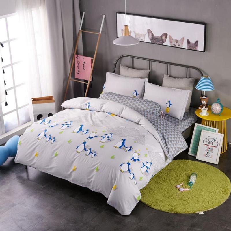 Подростковое полуторное постельное белье viluta сатин 183 пингвины1 ... 5b46cdd63a6eb