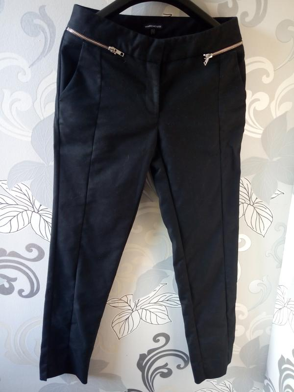 aea8c97aefd Черные узкие деловые классические брюки warehouse