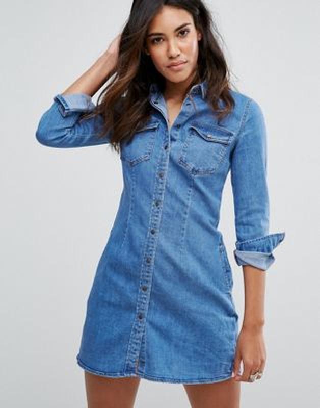 705526426a6 Идеальное джинсовое платье деним с длинным рукавом pimkie Pimkie ...