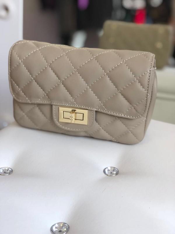 0ad690114b15 Стеганая сумка на пояс из натуральной кожи (италия) Италия, цена ...