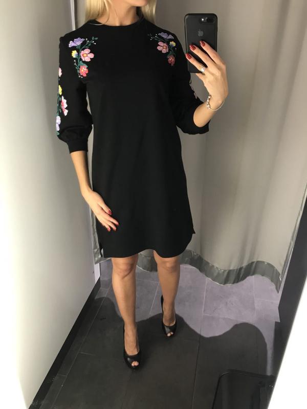 f466b097fe5 Чёрное платье свободного кроя платье оверсайз. amisu. размеры уточняйте.1  фото ...