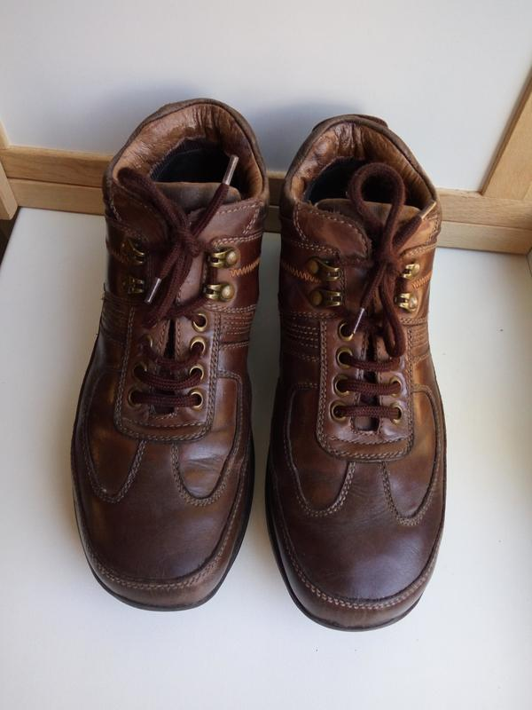 Кожаные фирменные ботинки для мальчика р. 39 Ecco fa18160f84011