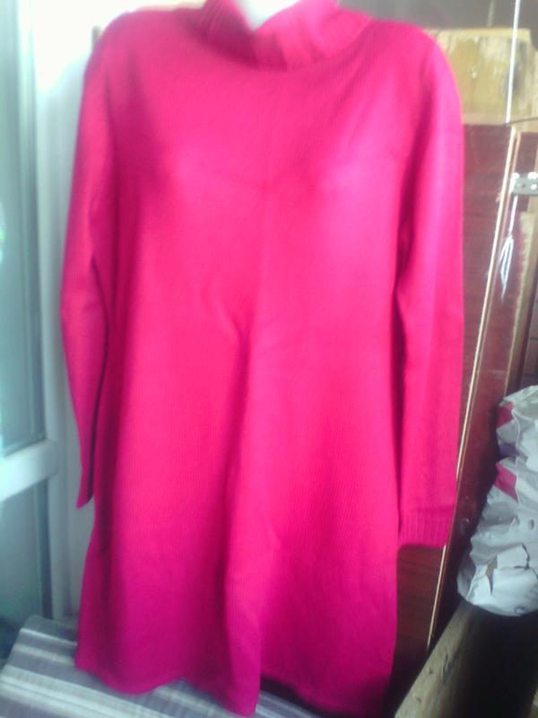 90965c0de61 Теплое уютное платье свитер темно-красного цвета размера плюс сайз 44-46  евро укр ...