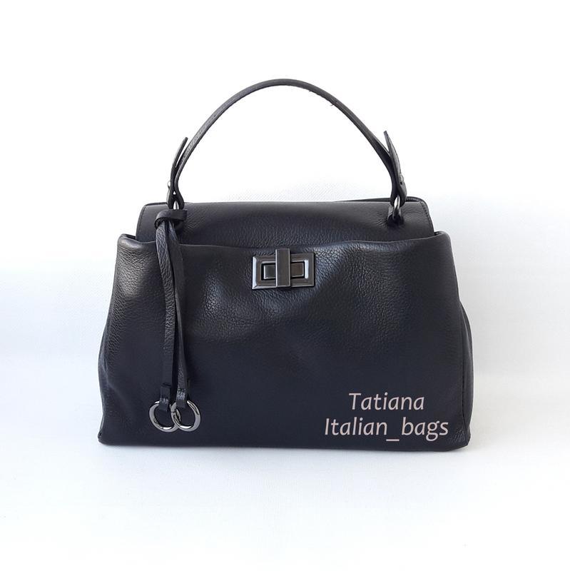 41b06a52bd5d Новинка. симпатичная кожаная сумка портфель, черная. италия Италия ...