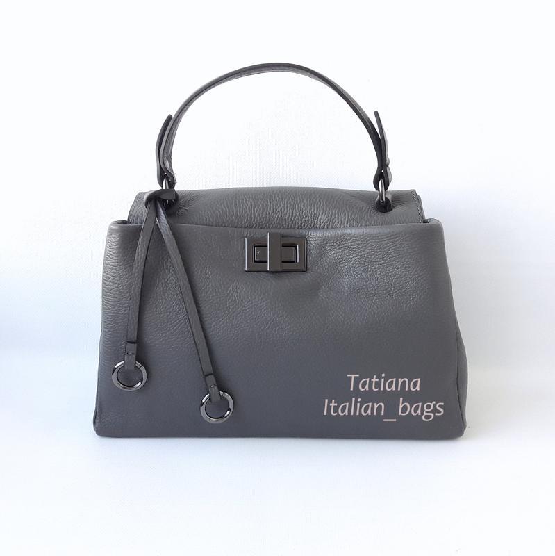 e05580e58c40 Новинка. симпатичная кожаная сумка портфель, серая графит. италия1 фото ...