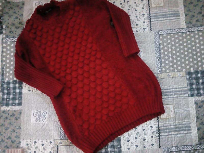Светер- плаття насиченого червоного кольору оверсайз1 ... 5ddfe69c3a579