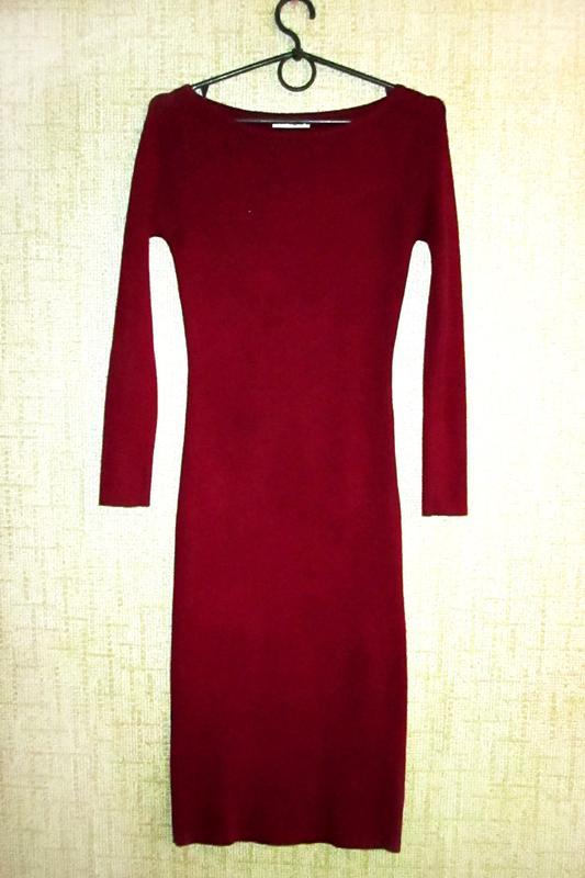 87487bef46d343e Tiramisu! чудесное платье-чулок в рубчик цвета марсала Tiramisu ...