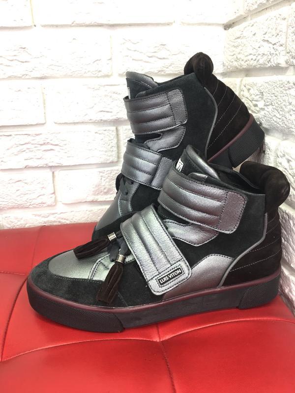 Зимние ботинки хайтопы высокие кеды кожа, цена - 1350 грн,  17526086 ... f276cc36cf6