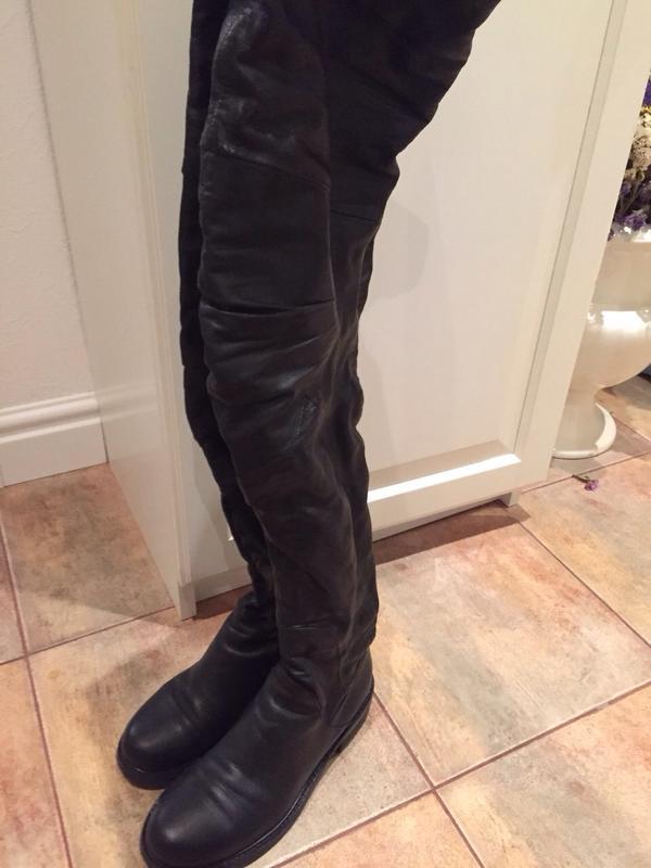 Кожаные сапоги- ботфорты за 3000 грн.  fe776d108fdd3