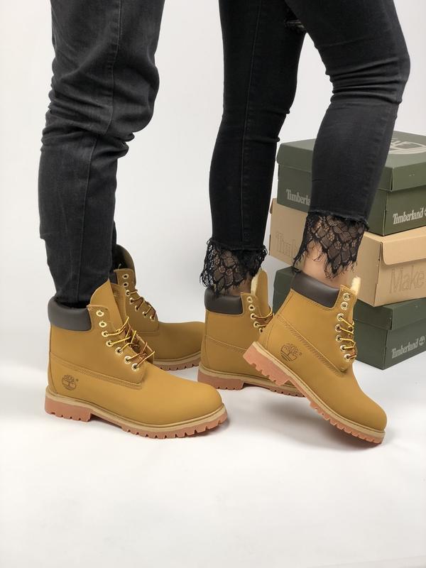 9d2286b857e3 Шикарные зимние ботинки timberland brown унисекс (с мехом) мужские   женские1 ...