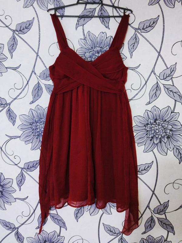 7c321a9f56d Красное шифоновое вечернее платье1 ...