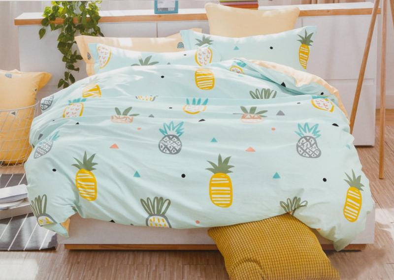Подростковое полуторное постельное белье viluta сатин 214 ананасы1 ... 1b2900b3bd976