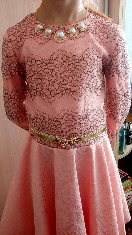 Шикарное платье на торжество рост 140-1461 ... c6490eed27480