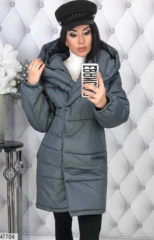 Зимняя женская куртка с капюшоном синтепон-200 размеры  42-44,46-48 ... c74ffee988d