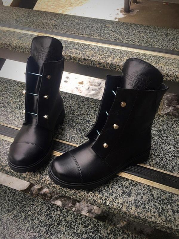 09574539b835 Ботинки зимние кожаные с болтами в стиле hermes р37,38, цена - 1200 ...