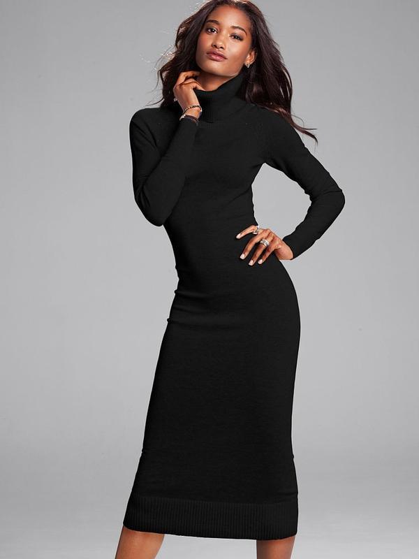ac1a78023ce0f52 Черное вязаное платье миди, цена - 100 грн, #2010805, купить по ...