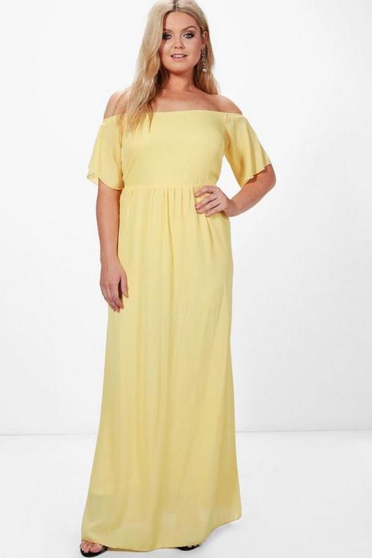 8d3c29fad81 Желтое шифоновое платье в пол1 фото ...