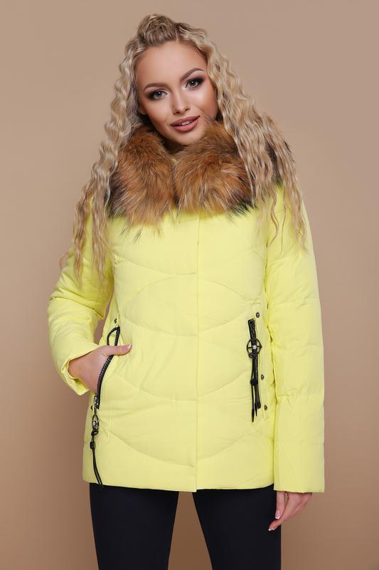 1aaae7fa9e6 Женская зимняя куртка с капюшоном мех-енот размеры  l1 фото ...