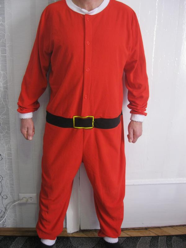 Санта клаус дед мороз кигуруми комбинезон пижама новый год 2019 рост до 2  м1 ... 23fbd23a433de