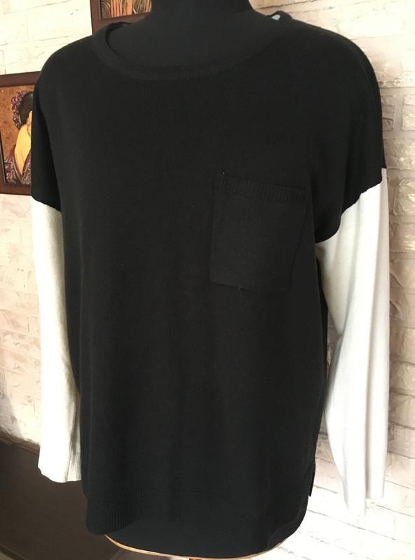 Черная кофта с белыми рукавами George, цена - 90 грн, #17717623, купить по доступной цене | Украина - Шафа