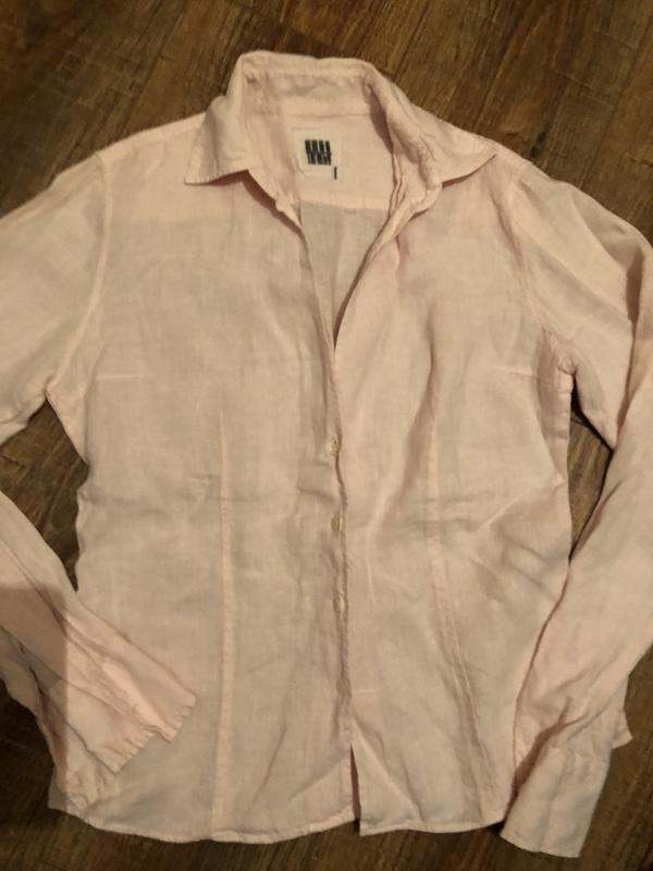 43c8ed6abc2 Итальянская нежно розовая рубашка льняная м лен блуза1 ...