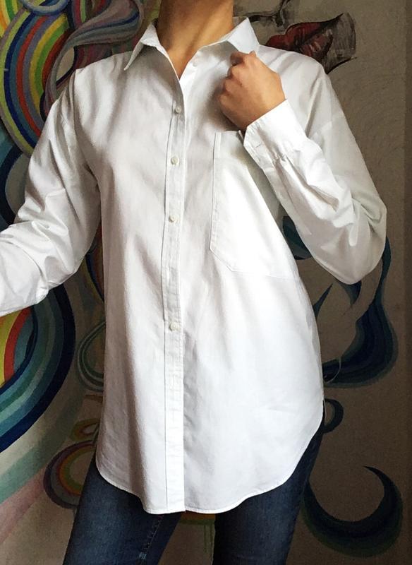d5809f6709a Стильная белая хлопковая рубашка-бойфренд от next1 фото ...