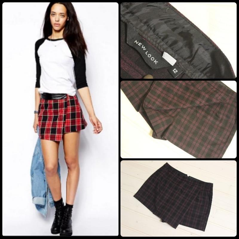 1ba21ab5437 New look.трендовые шорты-юбка.актуальная клетка.1 фото ...