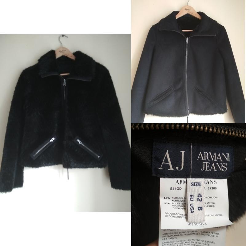 Шикарная брендовая двухсторонняя шубка-дубленка armani jeans original1 ... 410d01bef23