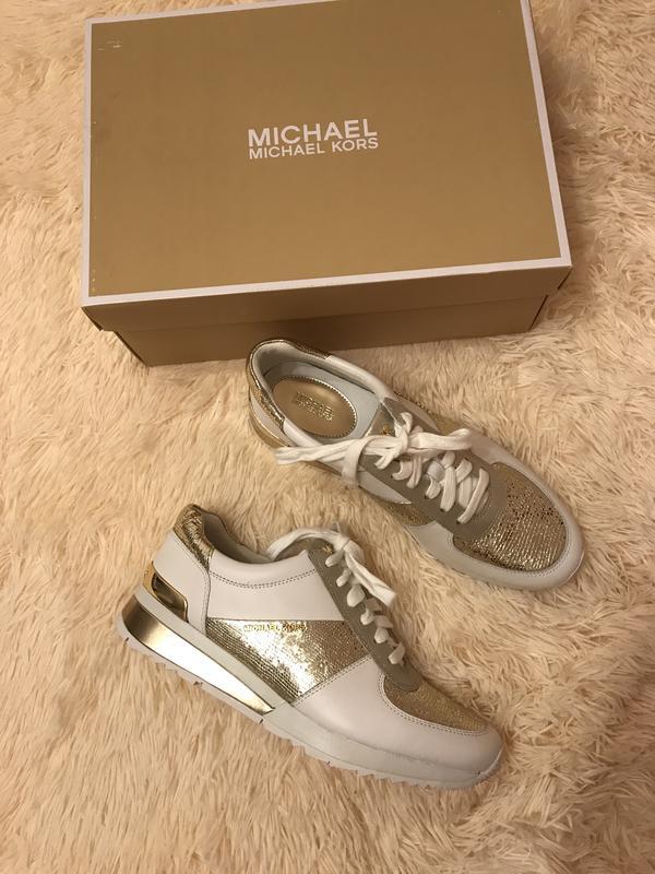 4db4efdb3dd0 Sale!!! белые кожаные кроссовки michael kors оригинал из сша Michael ...