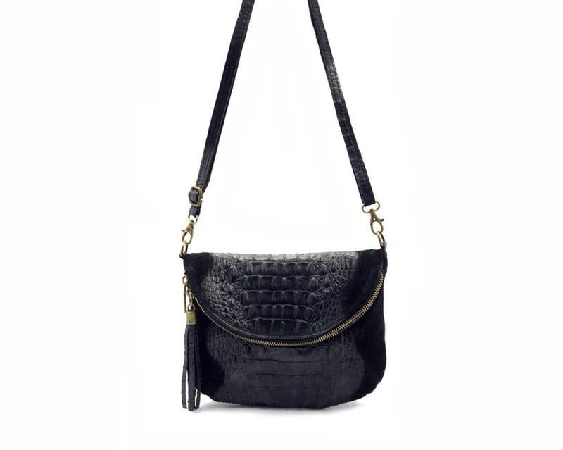 577c15abe2ac Женская кожаная сумка через плечо vera pelle черная Vera Pelle, цена ...