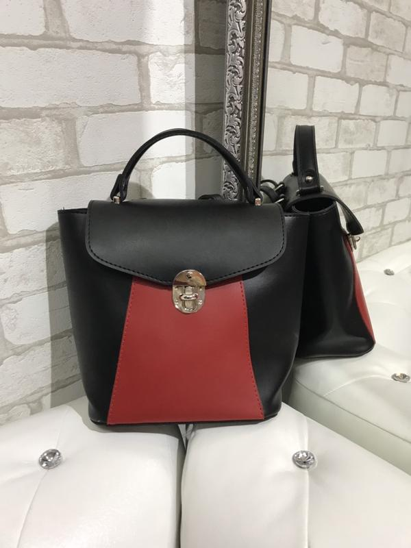 b50a18d1d98e Городской рюкзак, сумка-рюкзак, цвет черный+красный(черно-красный ...
