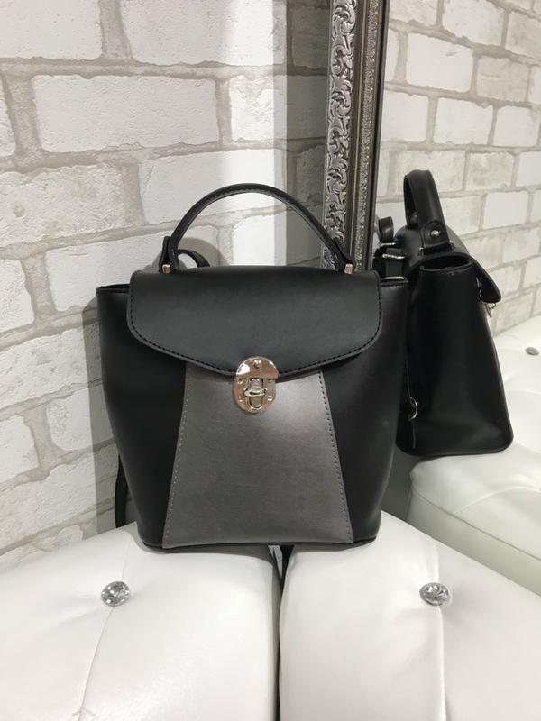 b75e49596ef5 Городской рюкзак, сумка-рюкзак, цвет графит+черный, цена - 470 грн ...