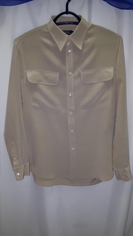 c7e55e28bed Мужская шелковая рубашка ralph lauren