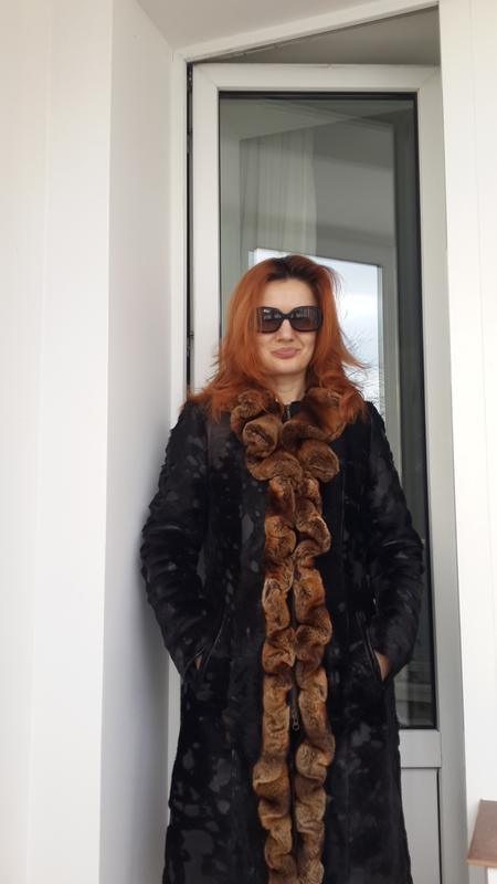 6d84ea5d64e Зимнее кожаное пальто с мехом шиншиллы1 фото ...