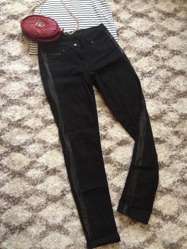 f784bdcea3a Фирменные джинсы denim co с кожаными вставками