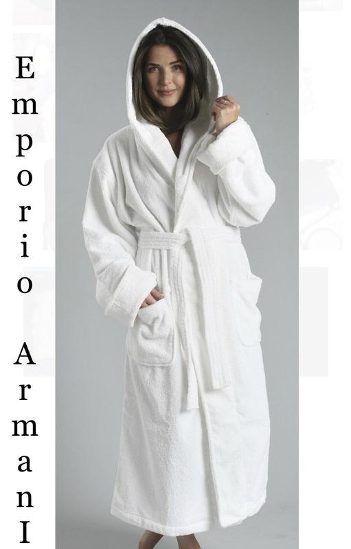 045fe678b1679 #armani#оригинал#махровый халат#белый банный халат#халат с капюшоном ...