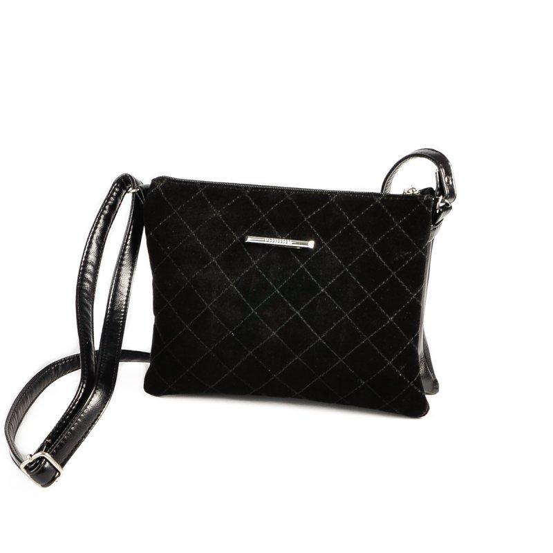 38c98d08c823 Черная замшевая сумка-клатч через плечо черная на молнии, цена - 385 ...