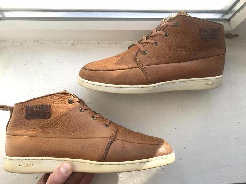 86c24420 Hub мужские кожаные туфли ботинки кеды кроссовки 41-42 оригинал1 ...