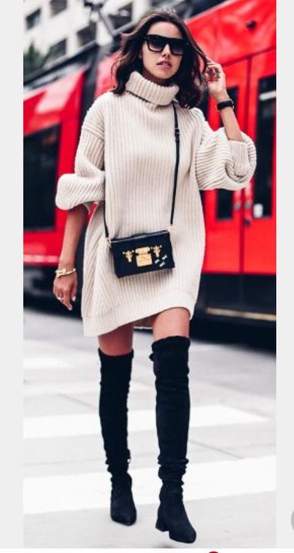 4f7b57b687e Вязаное платье свитер крупной вязки - шерсть 100 %1 фото ...