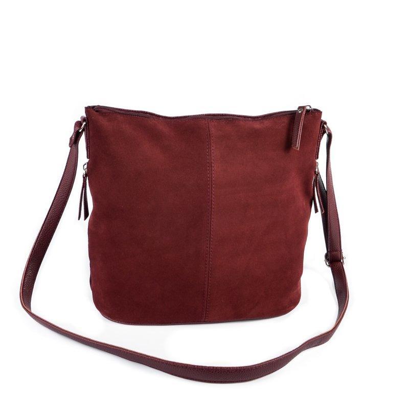 437babb3dc21 Бордовая замшевая сумка через плечо на молнии, цена - 435 грн ...