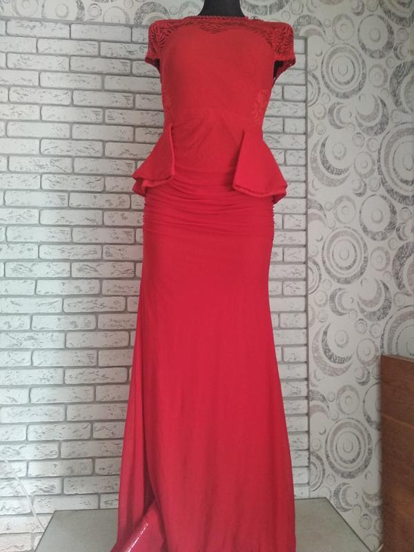 93fef0356f7 Шикарное платье в пол красного цвета1