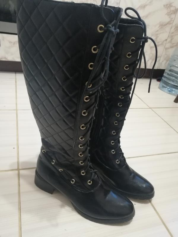 31969ee06671 Крутые сапоги на шнуровке, демисезон за 220 грн. | Шафа