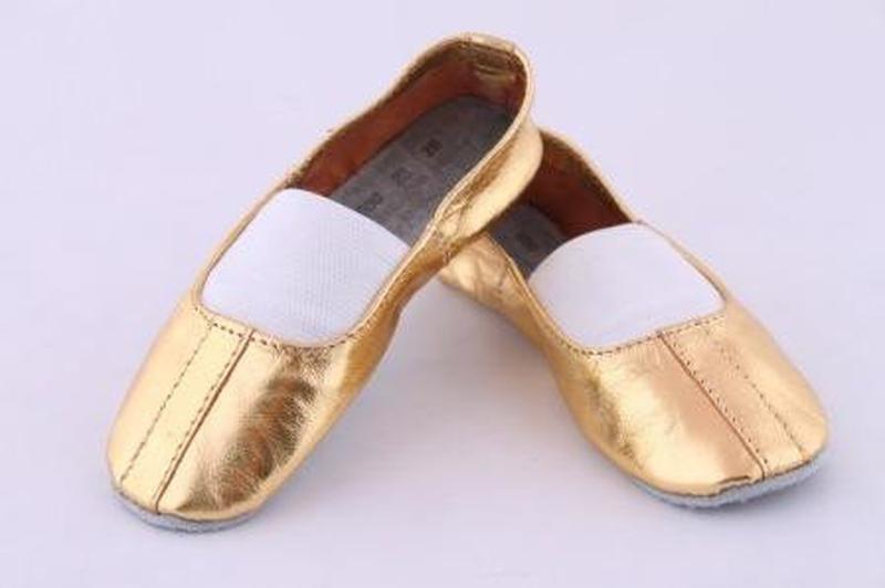 d90570fb ... Чешки для детей тм матита золотистые 30 рр 19 см стелька кожа  полностью3 фото ...