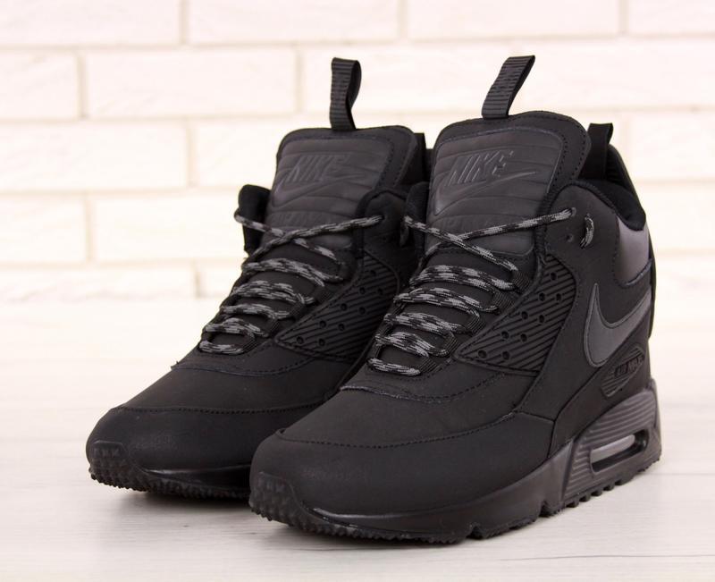 Черные мужские зимние кроссовки nike air max 90 sneakerboot 41 42 43 44 45  рр1 ... 018f6cf1092f5