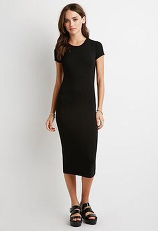 Черное платье футболка