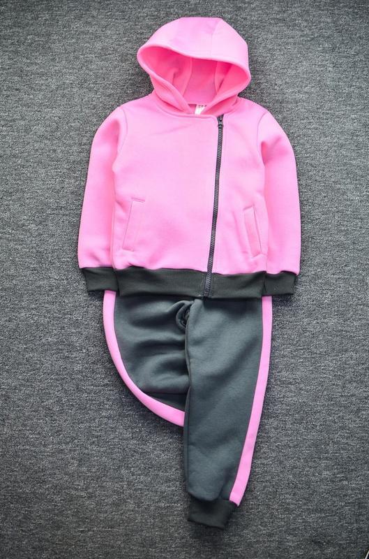 1cce8be7 Детский спортивный костюм тёплый с начёсом капюшоном на замочек для девочки1  фото ...
